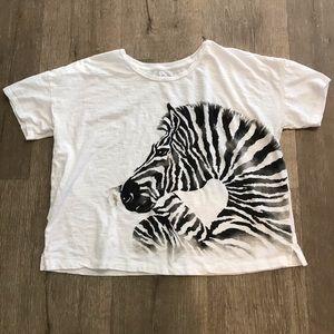 Ann Taylor Loft Sz M white crop T-shirt Sz M